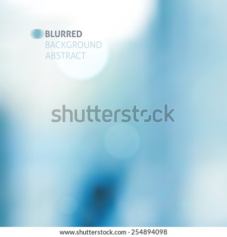 vector blurred abstract background with lights, blue color - stock vector