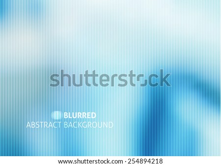 vector blurred abstract background with stripes, blue color - stock vector