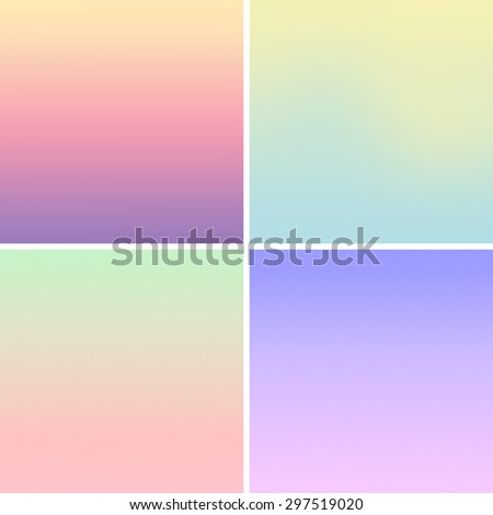 Vector - Blurred mesh gradient background pastel colors - stock vector