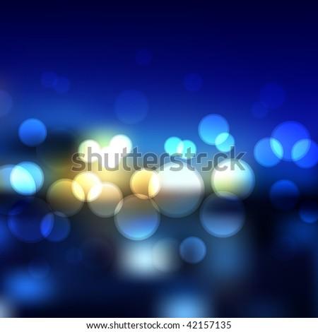Vector Blurry Lights - stock vector