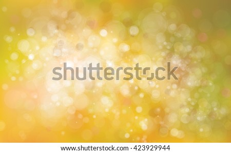 Vector bokeh yellow  background. - stock vector