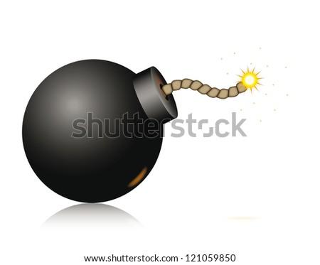 Bomb Icon Vector Vector Bomb Icon Isolated