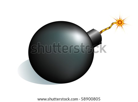 vector bomb isolated on white bg