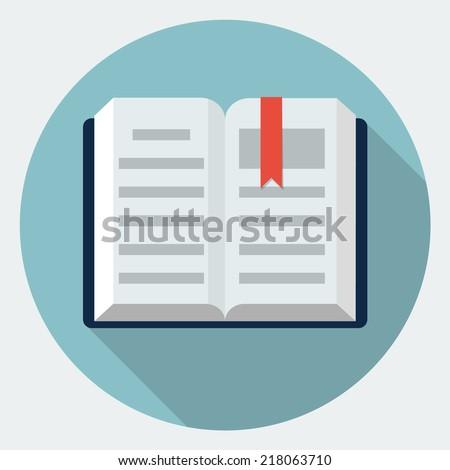 Vector book icon - stock vector
