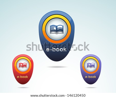 Vector Book Icon Multicolored - stock vector