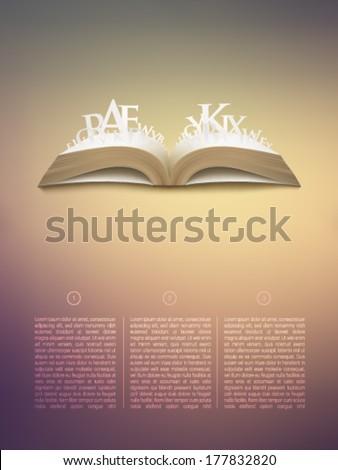 vector book illustration  - stock vector