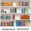 Vector bookcase - stock vector
