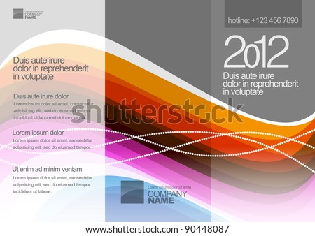 Vector booklet design on Abstract background - stock vector