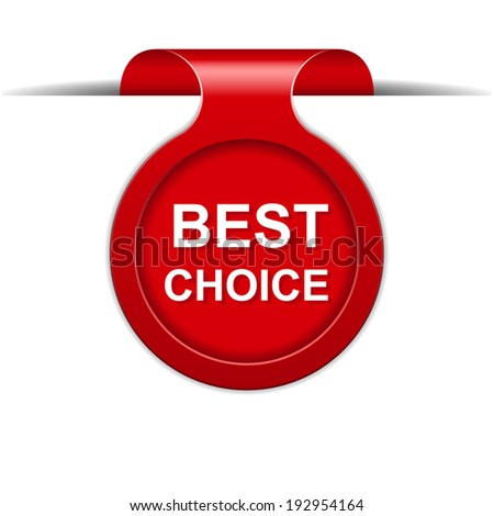 Vector bookmark with best choice message - stock vector