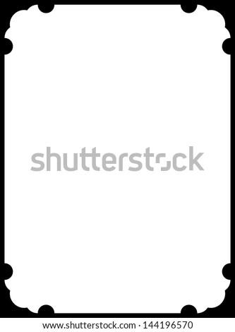 Vector border frame - stock vector