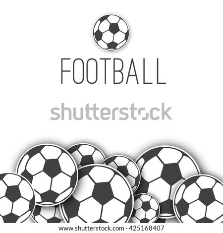 vector border frame with soccer balls. Football background for packaging, sticker, paper, Souvenirs for the fans and athletes. Sport  vector background