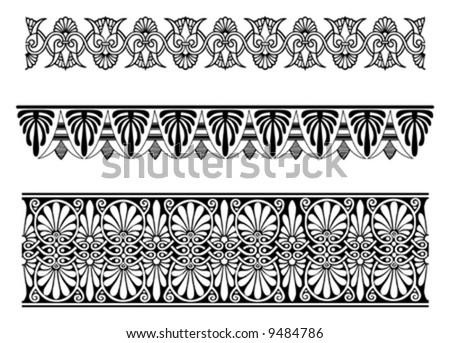 vector border ornaments. decor elements for designers - stock vector
