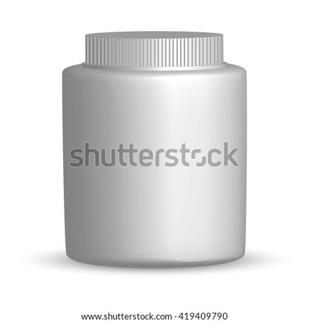 Vector bottle mockup  for drug