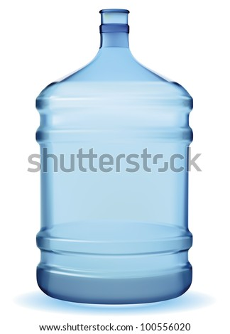 Vector bottle with clean blue water