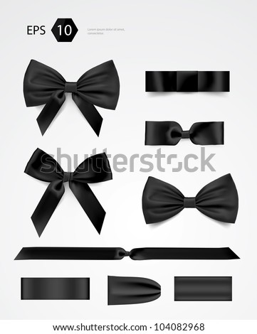 Vector bow collection - stock vector