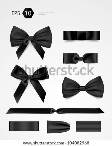 Vector bow collection - stock vector