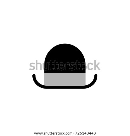 Vector bowler hat. Gentleman.