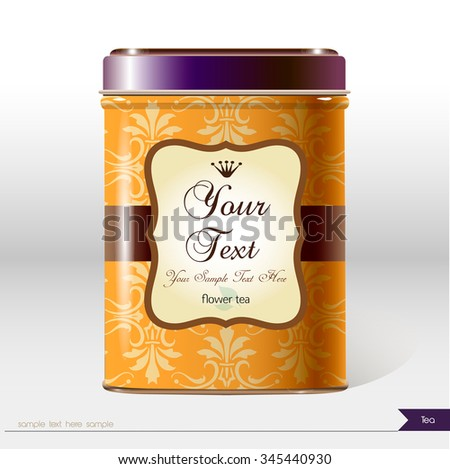 Vector box with place for your text. Design product package. Tea,coffee,dry products. - stock vector