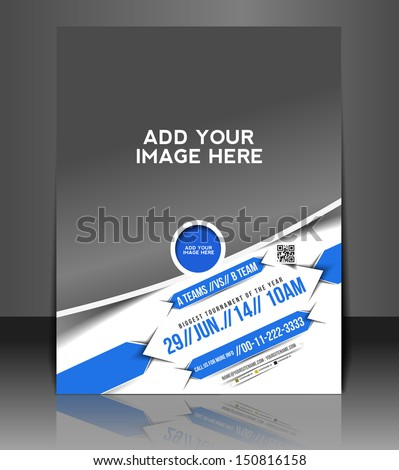 Vector Boxing Competition Flyer, Magazine Cover & Poster Template  - stock vector