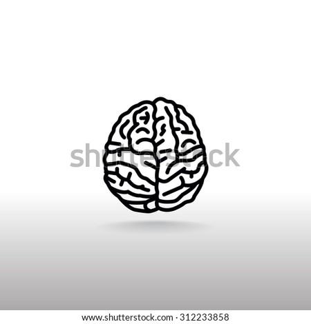 Vector Brain Icon - stock vector