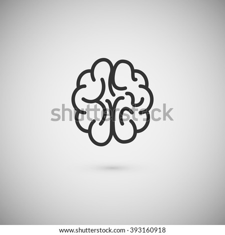 Vector brain icon - stock vector