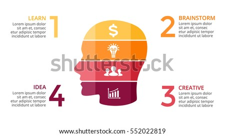 Vector brain infographic template human head stock vector royalty template for human head diagram artificial intelligence graph 16x9 presentation toneelgroepblik Gallery