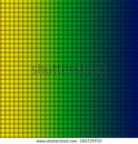 Vector - Brazil Flag Square Yellow Green Blue Background - stock vector