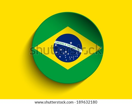Vector - Brazil 2014 Letters with Brazilian Flag - stock vector