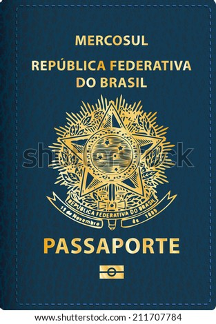 vector Brazilian passport cover - stock vector