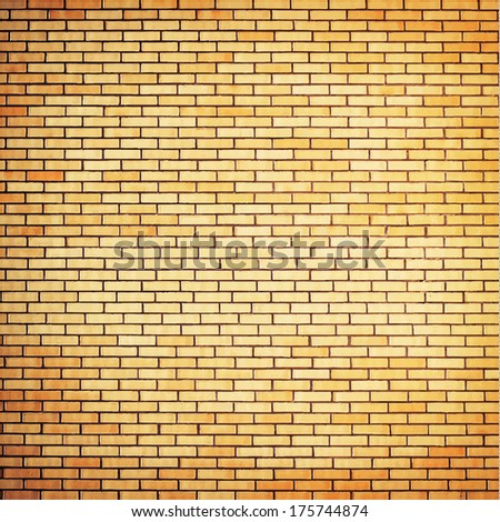 vector brick wall background - stock vector