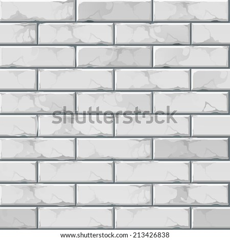 Vector Brick Wall Background Texture Pattern - stock vector