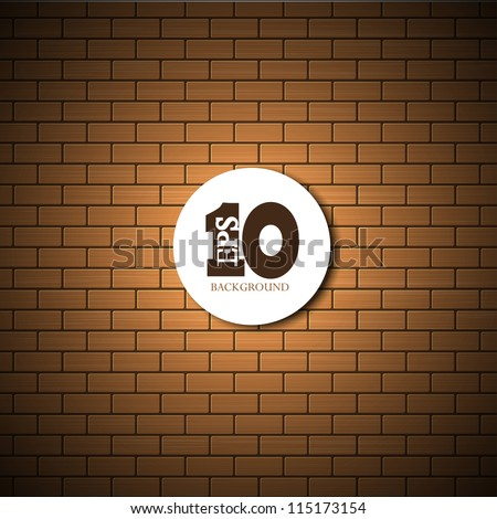 vector brick wall background with place for your text. Eps10 - stock vector