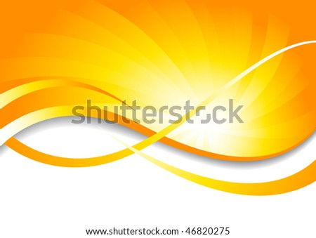 Vector bright background in yellow color; clip-art - stock vector