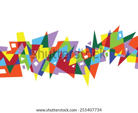 vector bright color abstract geometric pattern - stock vector