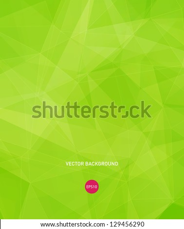 Vector bright green modern geometric background - stock vector