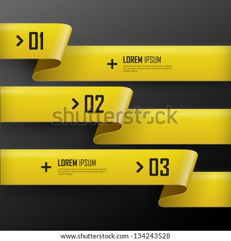 Vector bright yellow banners set