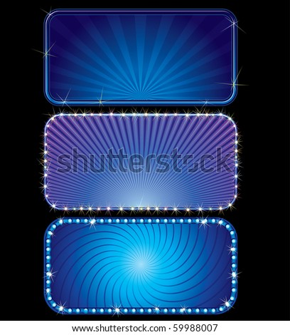 vector brightly blue billboards (only gradients) - stock vector