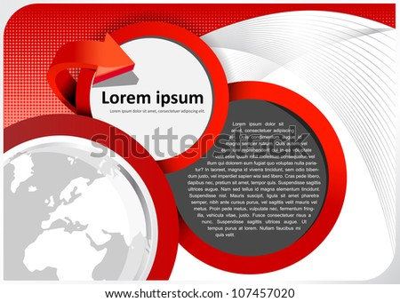 Vector brochure background with abstract globe - stock vector