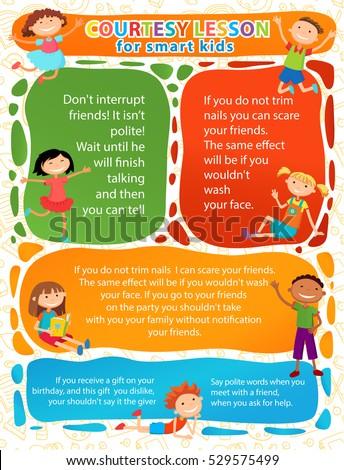 Vector brochure backgrounds cartoon children infographic for Kids brochure template