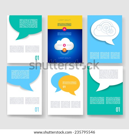 vector brochure design templates collection ad and infographic concept flyer brochure design templates