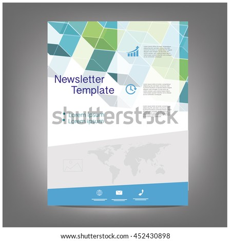 Vector Brochure Flyer design Layout, newsletter template