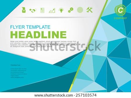 Vector Brochure Flyer design Layout template - stock vector