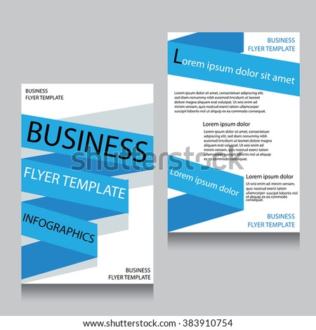 Vector Brochure Flyer design Layout template,Front page and back page