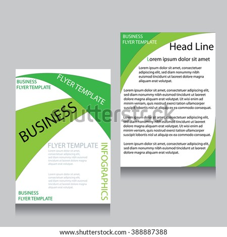 Vector Design Green Flyer Cover Brochure Stock Vector 364701554