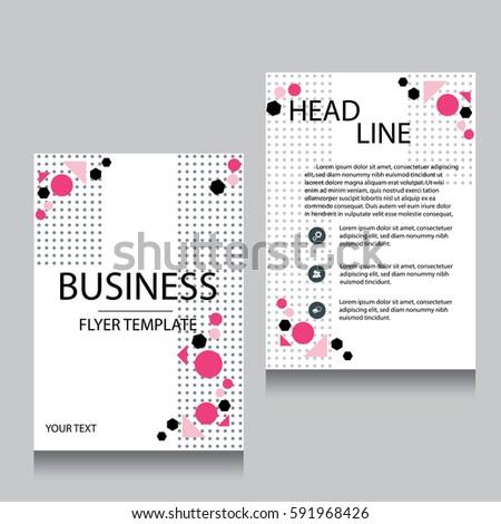 Vector Brochure Flyer Design Layout Template Stock Vector 591968426
