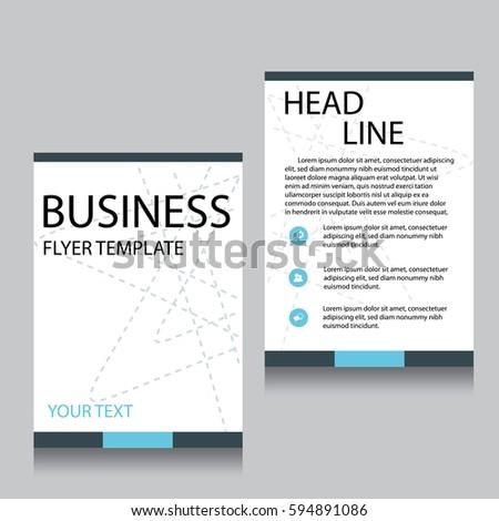 vector brochure flyer design layout templateのベクター画像素材