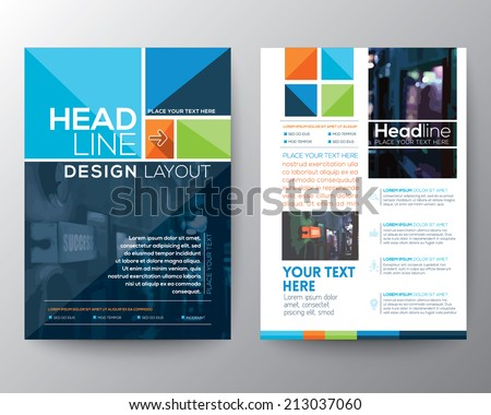 Vector Brochure Flyer design Layout template in A4 size - stock vector