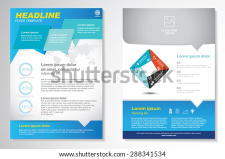 Vector Brochure Flyer design Layout template.infographic - stock vector