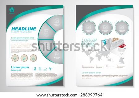 Vector Brochure Flyer design Layout template.infographic - stock vector
