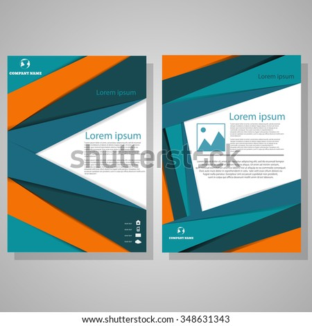 Vector Brochure Flyer design Layout template, size A4, Front page and back page colour design eps 10